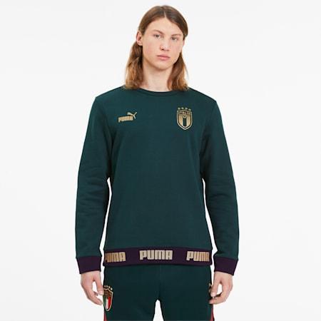 Sweatshirt Italia Football Culture pour homme, Ponderosa Pine-Puma Team Gold, small