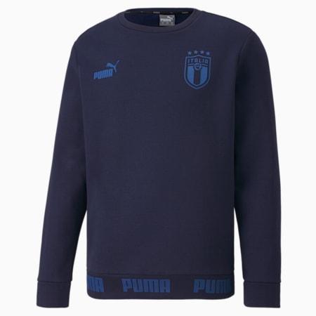 Italia Men's FtblCulture Sweater, Peacoat-Team Power Blue, small-GBR