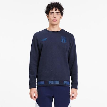 Italia Men's FtblCulture Sweater, Peacoat-Team Power Blue, small