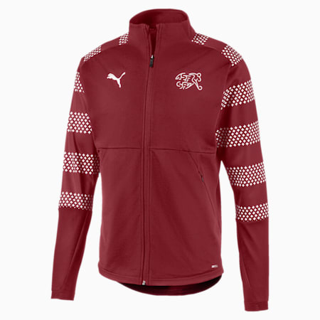 Suisse Men's Stadium Jacket, Pomegranate, small-GBR