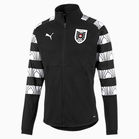 Austria Men's Stadium Jacket, Puma Black-Puma White, small