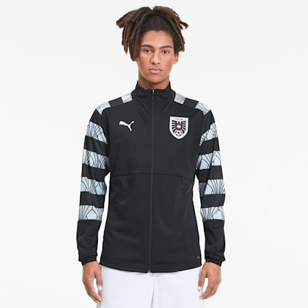 Austria Men's Stadium Jacket, Puma Black-Puma White, small