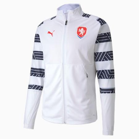 Czech Republic Men's Stadium Jacket, Puma White-Peacoat, small