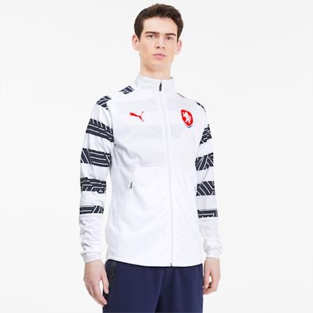 チェコ FACR スタジアム ジャケット, Puma White-Peacoat, small-JPN