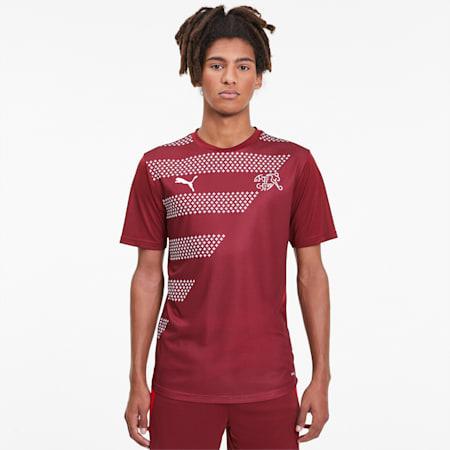 Camiseta deportiva para hombre Suisse Stadium, Pomegranate, small