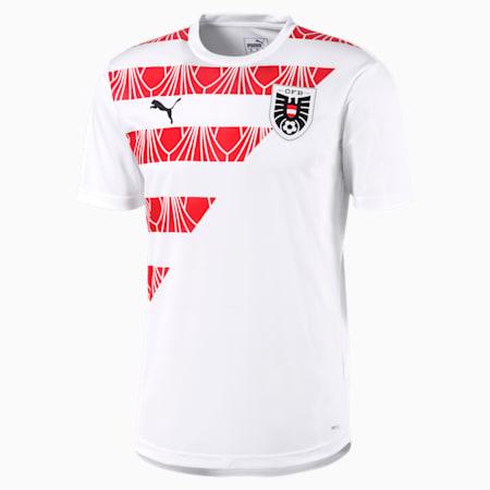 Austria Men's Stadium Jersey, Puma White-Chili Pepper, small-GBR