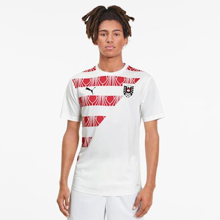 Męska koszulka reprezentacji Austrii Stadium, Puma White-Chili Pepper, small