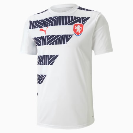 Czech Men's Stadium Jersey, Puma White-Peacoat, small-GBR