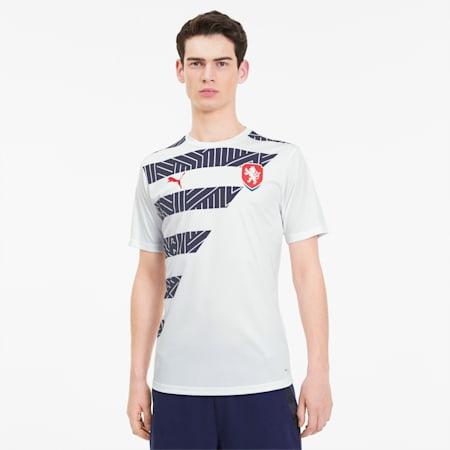 Czech Men's Stadium Jersey, Puma White-Peacoat, small