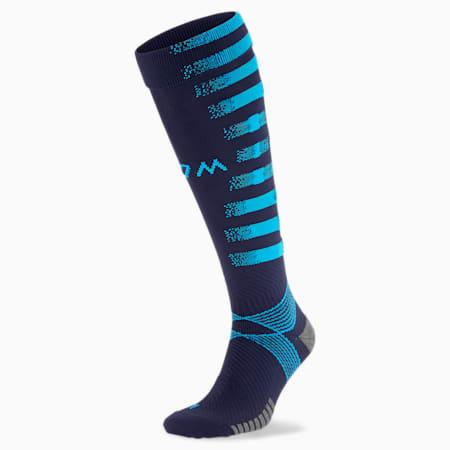 Olympique de Marseille Replica Men's Football Socks, Peacoat-Bleu Azur, small