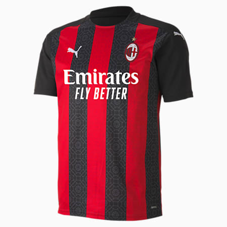 AC Milan Home Replica Men's Jersey, Tango Red -Puma Black, small