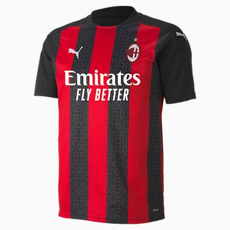 Camiseta para hombre réplica de la 1.ª equipación del AC Milan, Tango Red -Puma Black, small