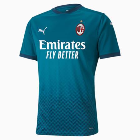 Męska replika trzeciej koszulki AC Milan, Deep Lagoon-Gibraltar Sea, small