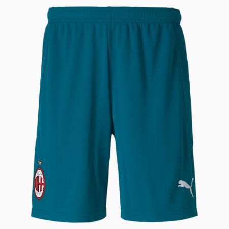 Męska replika spodenek piłkarskich AC Milan, Deep Lagoon-Gibraltar Sea, small