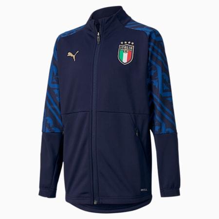 キッズ FIGC イタリア アウェイ スタジアム ジャケット JR 116-164cm, Peacoat-Team Power Blue, small-JPN