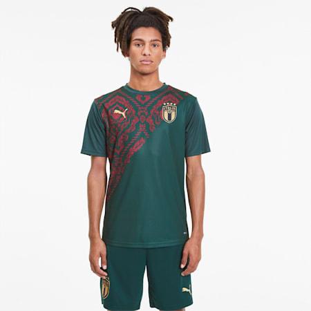 Camiseta para hombre 3.º equipación Italia Stadium, Ponderosa Pine-Cordovan, small