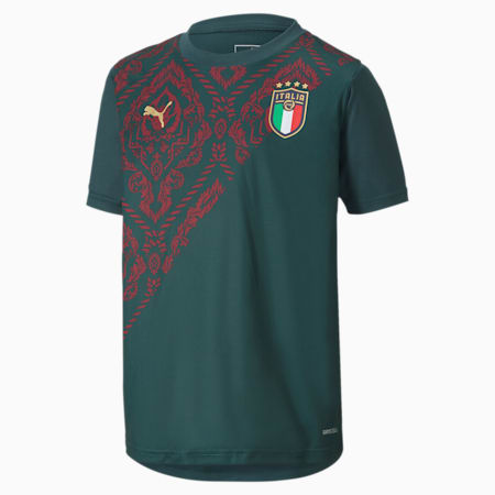Camiseta para niño 3.º equipación Italia Stadium, Ponderosa Pine-Cordovan, small
