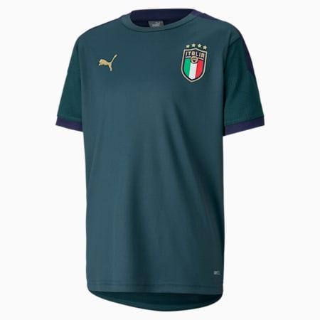Italia trainingsshirt voor kinderen, Ponderosa Pine-Peacoat, small