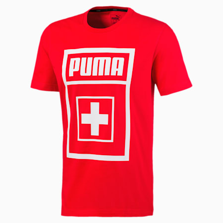 Suisse Men's DNA Tee, Puma Red, small