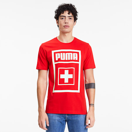 T-shirt DNA Suisse da uomo, Puma Red, small