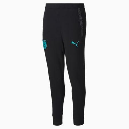 Austria Casuals Women's Sweatpants, Puma Black-Blue Turquoise, small