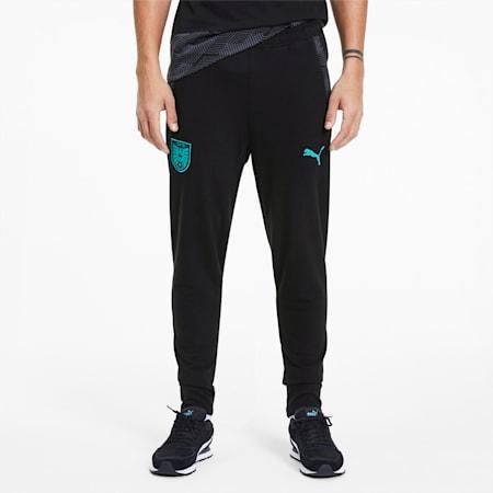Pantalones de deporte para mujer Austria Casuals, Puma Black-Blue Turquoise, small