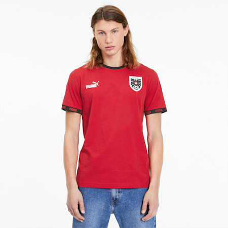 T-Shirt Österreich Football Culture pour homme, Chili Pepper, small