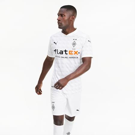 Borussia Mönchengladbach Home Replica Men's Jersey, Puma White-Gray Violet, small