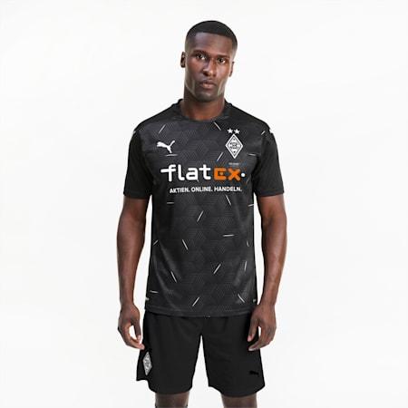 Camiseta para hombre réplica de la 2.ª equipación del Borussia Mönchengladbach, Puma Black-Puma White, small