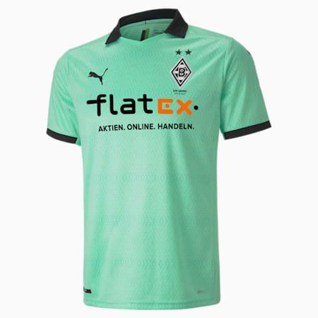 Borussia Mönchengladbach Third Replica Men's Jersey, Green Glimmer-Puma Black, small-GBR