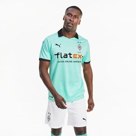 Męska replika trzeciej koszulki Borussia Mönchengladbach, Green Glimmer-Puma Black, small