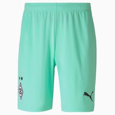 Borussia Mönchengladbach Replica voetbalshort heren, derde tenue, Green Glimmer-Puma Black, small