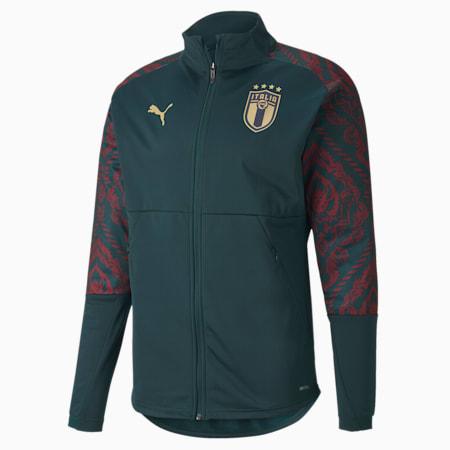 Italia Men's Third Stadium Jacket, Ponderosa Pine-Cordovan, small-GBR