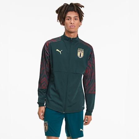 Italia Men's Third Stadium Jacket, Ponderosa Pine-Cordovan, small