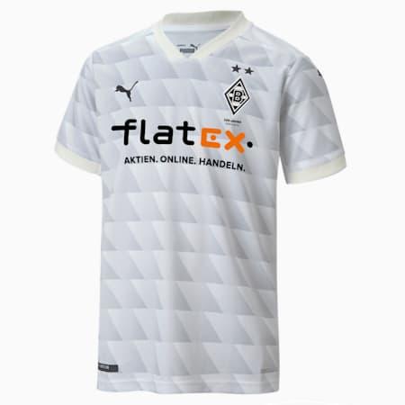 Borussia Mönchengladbach Home Replica Youth Jersey, Puma White-Gray Violet, small