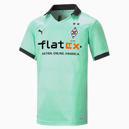 Borussia Mönchengladbach Third Replica Youth Jersey, Green Glimmer-Puma Black, small-GBR