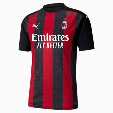 AC Milan Authentic herenjersey, thuistenue, Tango Red -Puma Black, small