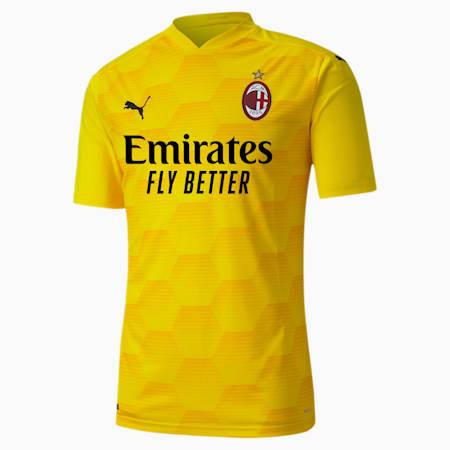 AC Milan Replica Men's Goalkeeper Jersey, Cyber Yellow, small