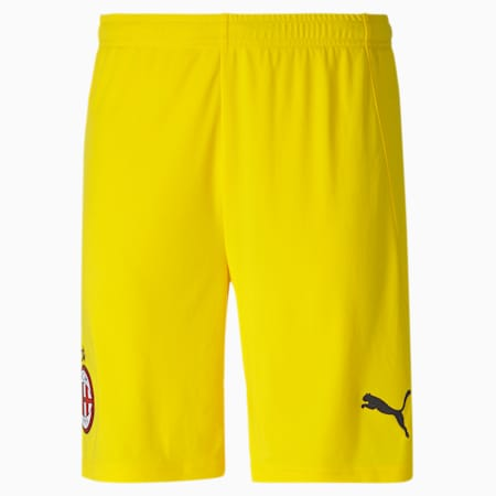 AC Milan Replica Men's Goalkeeper Shorts, Cyber Yellow, small