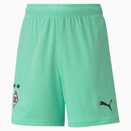 Borussia Mönchengladbach Replica Jugend Ausweichshorts, Green Glimmer-Puma Black, small