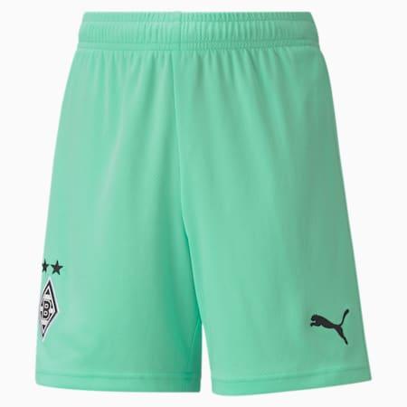 Borussia Mönchengladbach Third Replica Youth Football Shorts, Green Glimmer-Puma Black, small-GBR