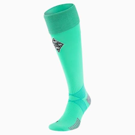 Calze da calcio Borussia Mönchengladbach uomo, Green Glimmer-Puma Black, small