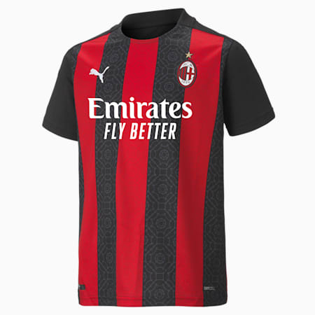 Maillot Domicile Milan AC Replica enfant et adolescent, Tango Red -Puma Black, small