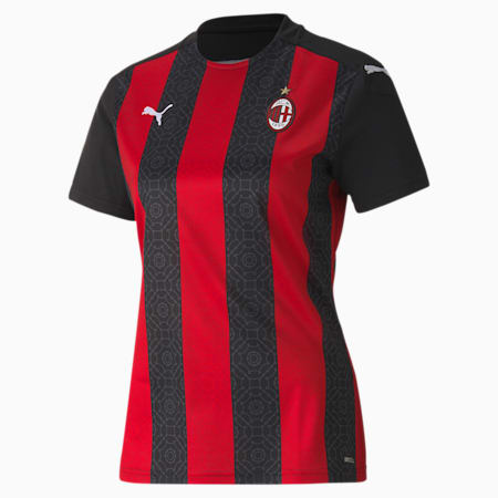 AC Milan Home Replica Women's Jersey, Tango Red -Puma Black, small