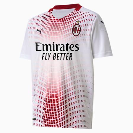 AC Milan Away Replica Youth Jersey, Puma White-Tango Red, small-GBR