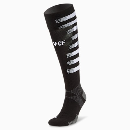 Valencia CF Graphic Men's Football Socks, Puma Black-Puma White, small-GBR