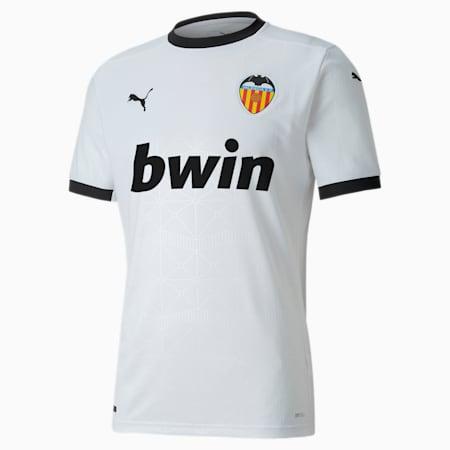 Valencia CF Home Replica Men's Jersey, Puma White-Puma Black, small-GBR