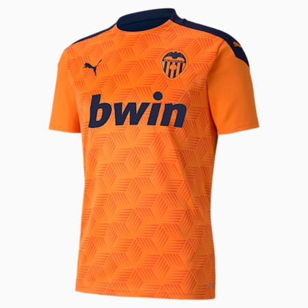Valencia CF Away Replica Men's Jersey, Vibrant Orange-Peacoat, small