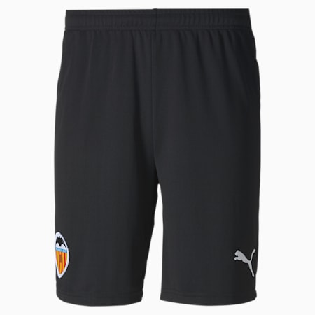 Valencia CF Home Replica Men's Football Shorts, Puma Black-Puma White, small
