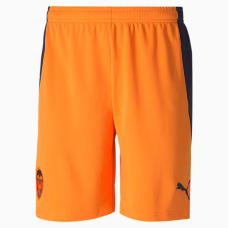 Shorts de fútbol para hombre réplica de la 2.ª equipación del Valencia CF, Vibrant Orange-Peacoat, small